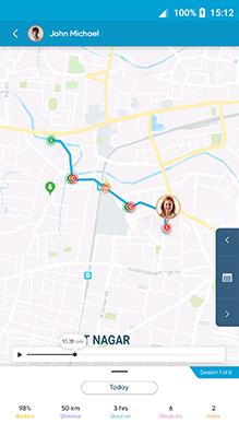 Route Taken by Employee